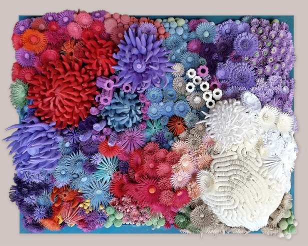 Coral reef made from paper
